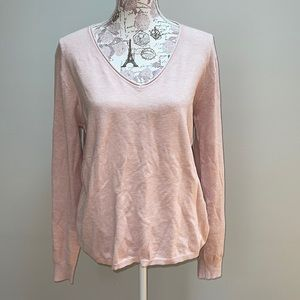 New Basic Milano Pink V-neck XL Sweater